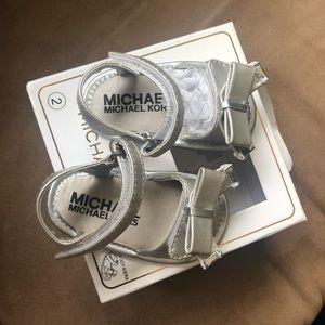 Michael kors baby sandals! 3-6 mos